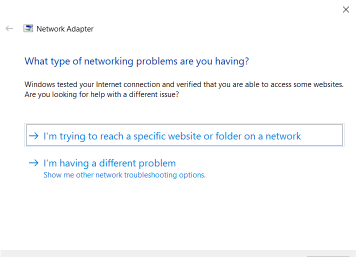 What type of network problems