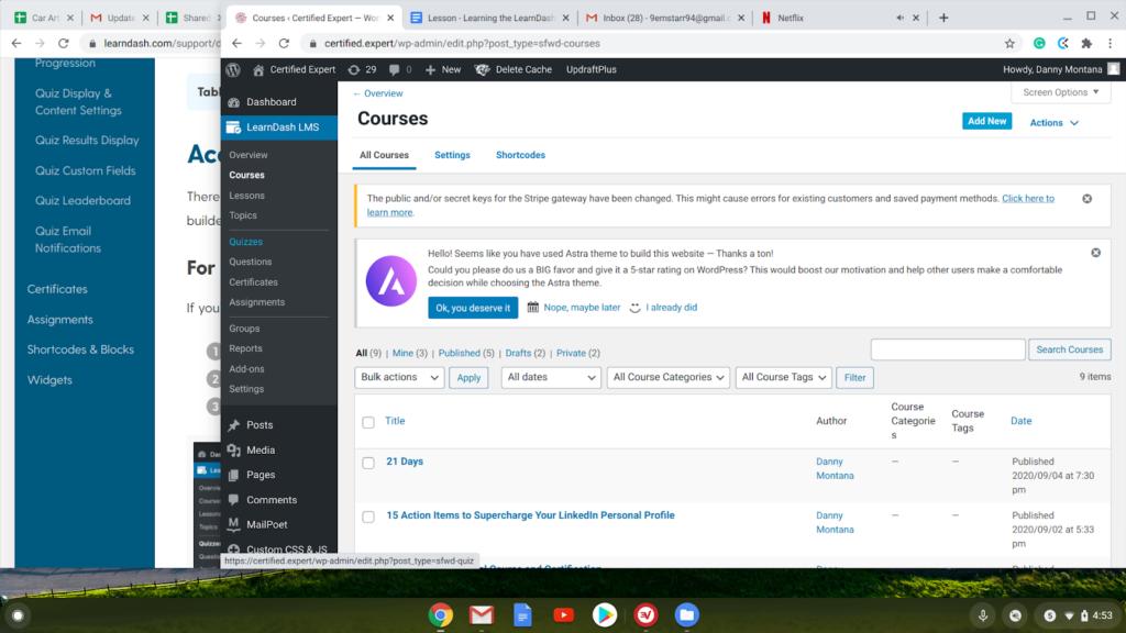 Learndash online course