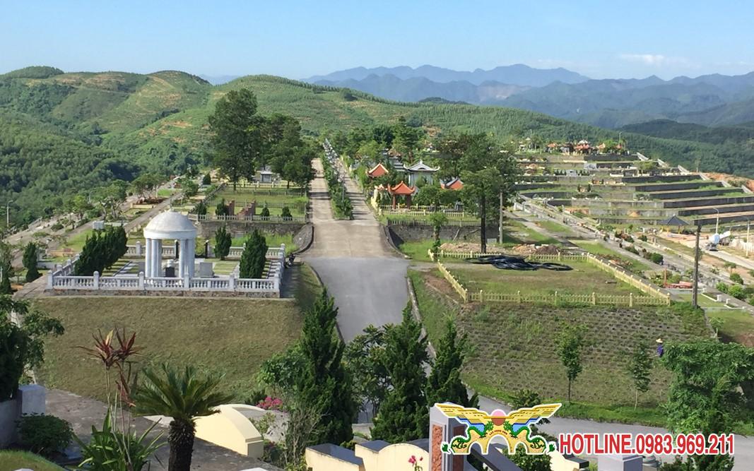 Toàn cảnh khuôn viên nghĩa trang Lạc Hồng Viên