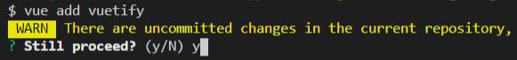 Escolhendo continuar a instalação sem adicionar arquivos ao GitHub