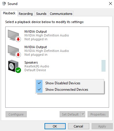 Show Disabled Devices