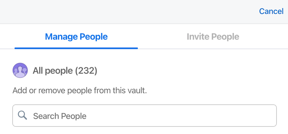 add people to a vault.