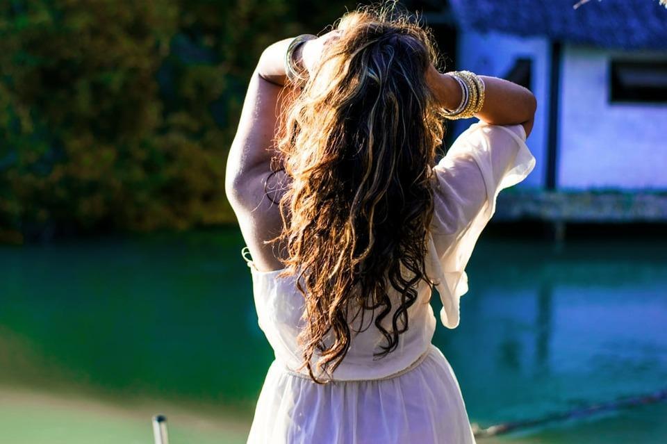 ジプシー, ジプシー-デンジャーヘア, 野生無料, 自由, リリース, 長い髪, 巻き毛, 黄金の時間, 夏