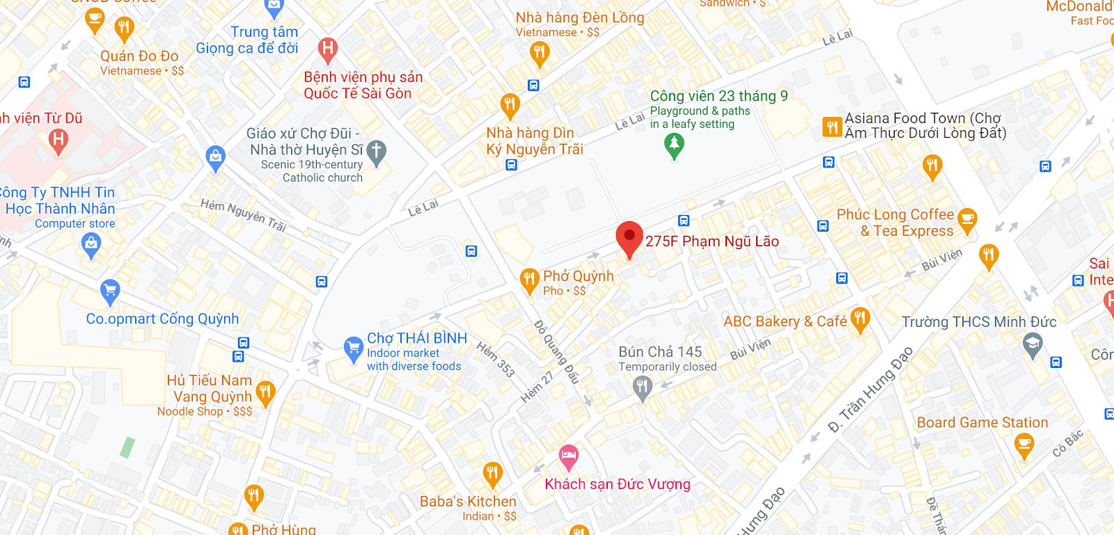 Văn phòng nhà xe Nguyễn Kim tại Sài Gòn