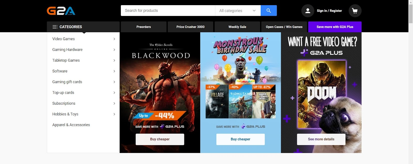 Almowafir has exclusive G2A discount code, G2A promo codes & G2A coupon to shop G2A games and more.