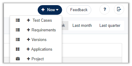 Create project with Web Application Automated Testing tool Testsigma