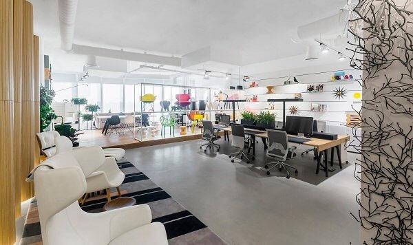 thiết kế nội thất văn phòng trong không gian mở