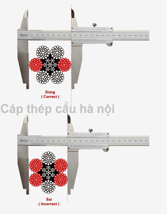cách đo đường kính cáp thép