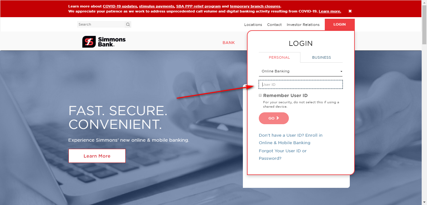 Simmons Bank Online Banking
