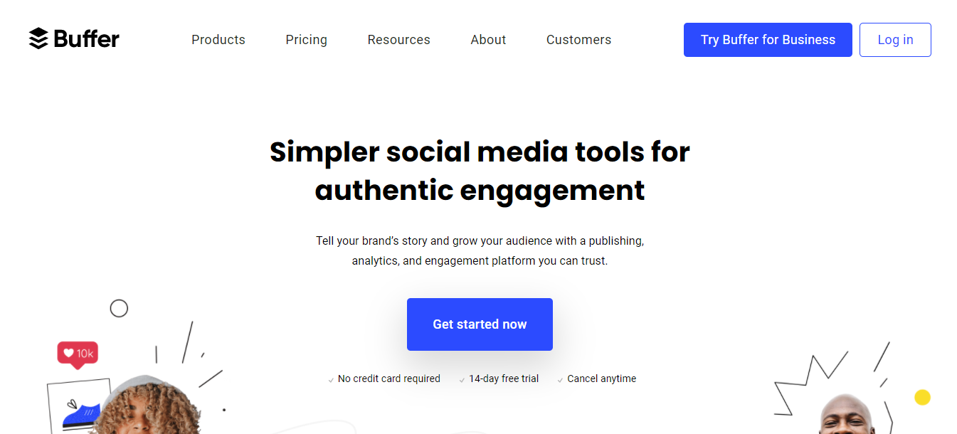 b social media collaboration tool