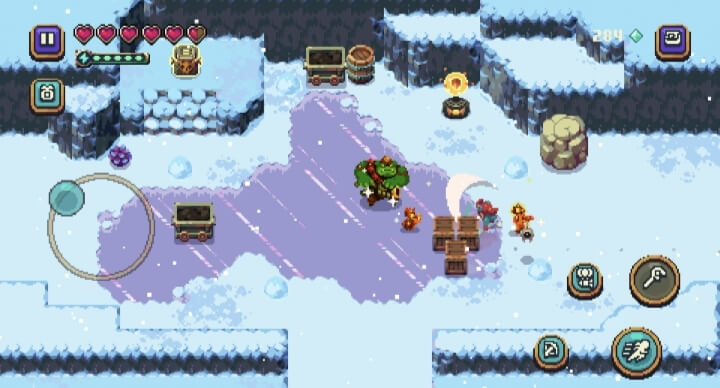 sparklite in-game visual