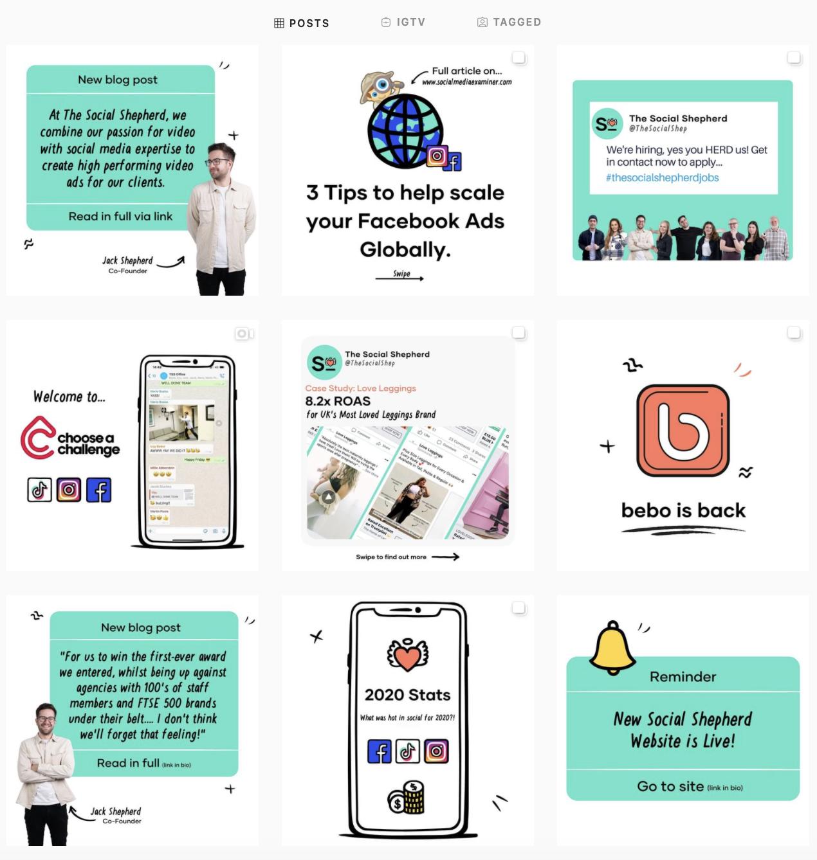 social media agency instagram feed