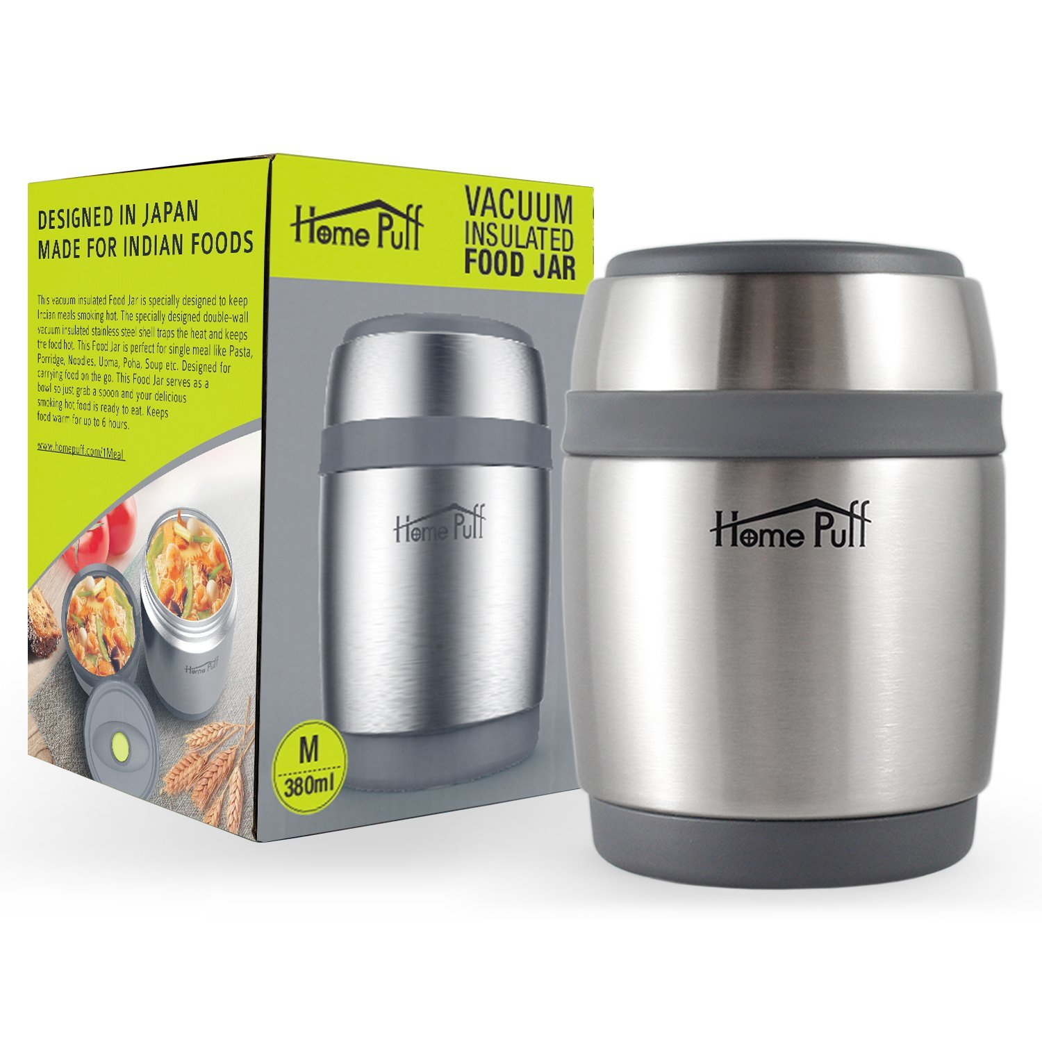 Home Puff Double Wall Vacuum Insulated Best Lunch Box In India
