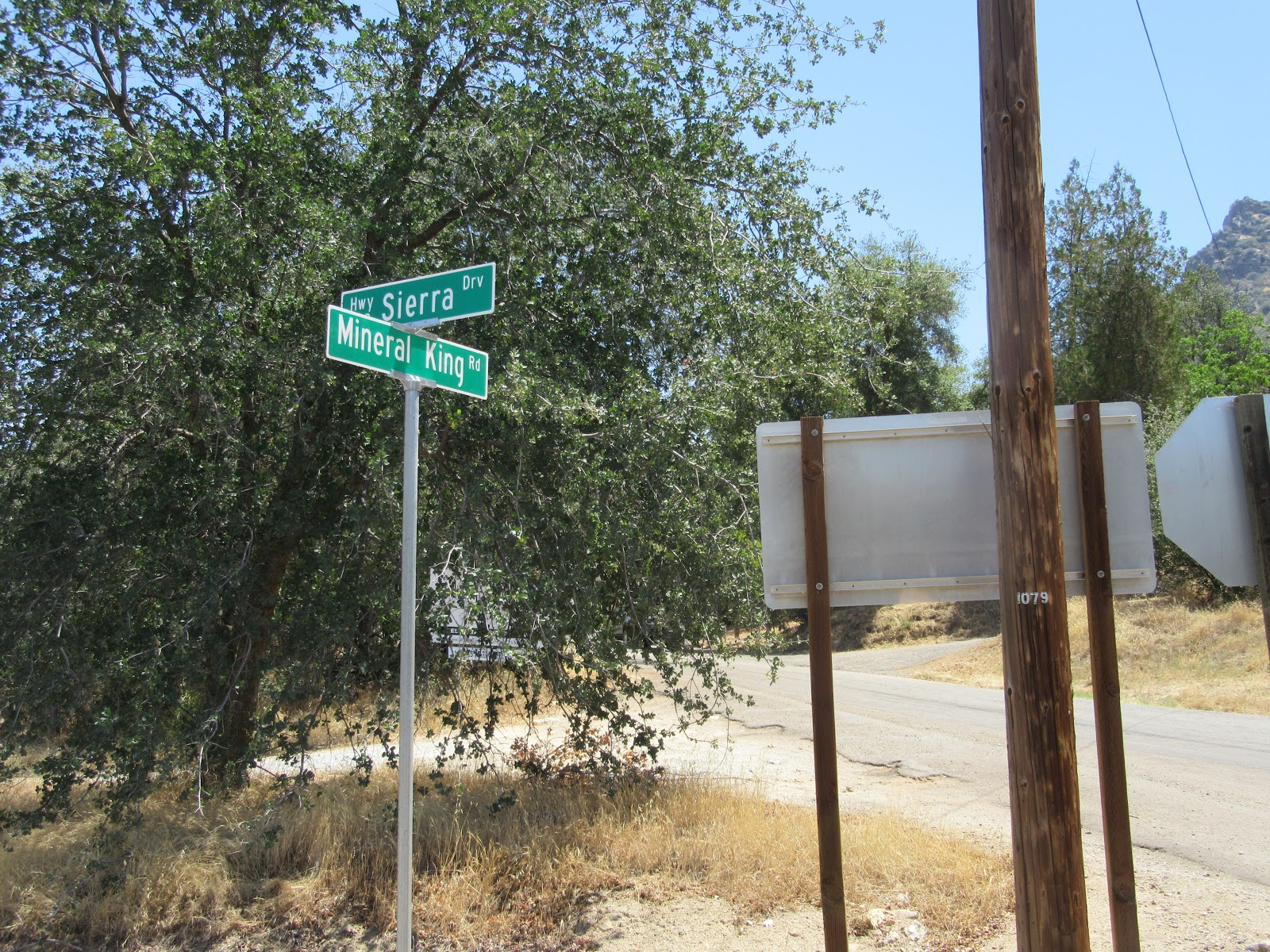 Beginning of the Mineral King bike climb - roadway sign for Mineral King Road.