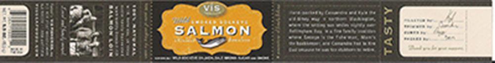 Vis Seafoods, Wild Smoked Sockeye Salmon, 5.5 oz., 6 10041 10001 2