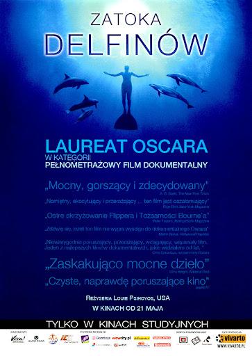 Przód ulotki filmu 'Zatoka Delfinów'