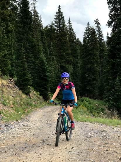 April biking near Silverton level pedals