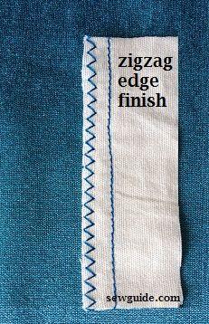 acabado de costura en zig zag