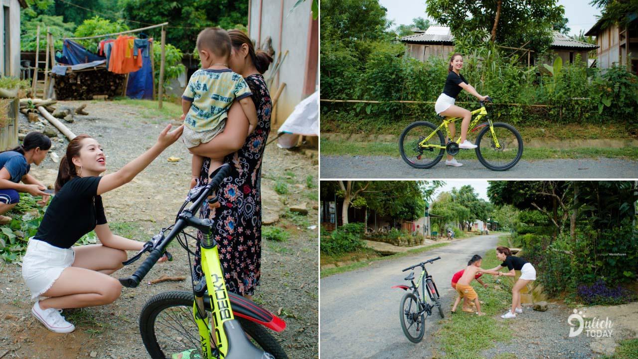 Đạp xe khám phá khắp bản làng Ba Khan