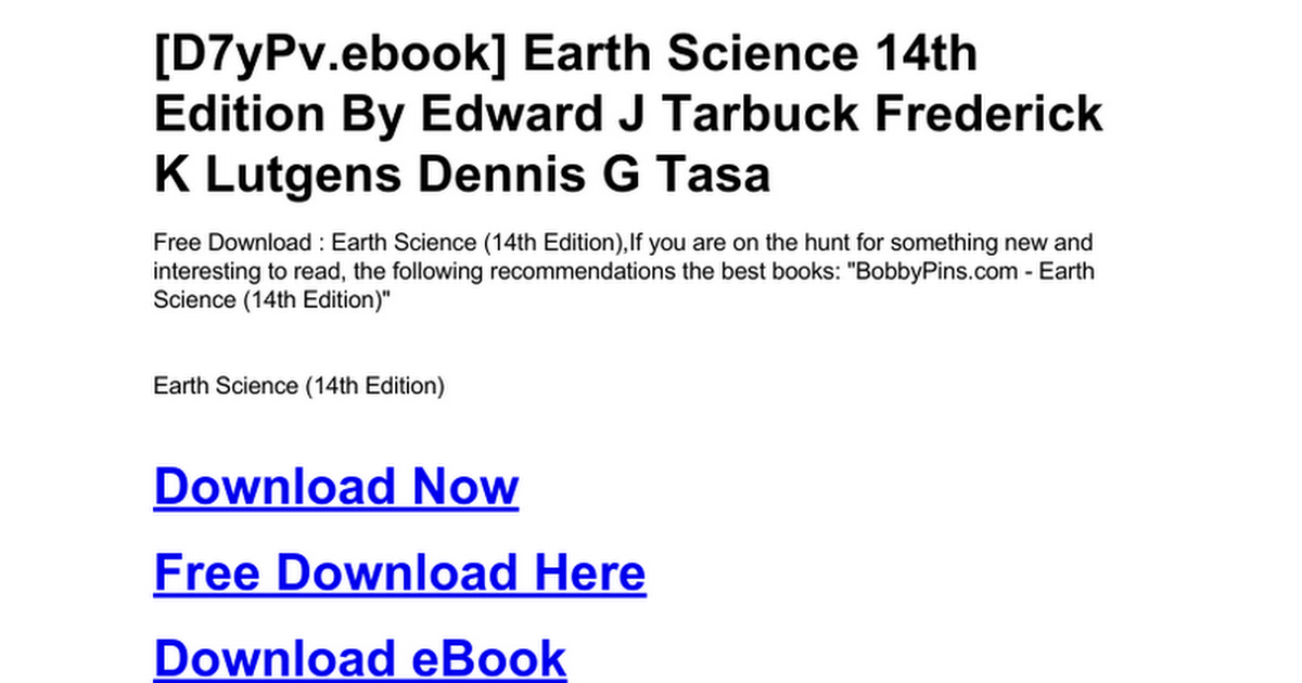 Earth science 14th editionc google docs fandeluxe Image collections