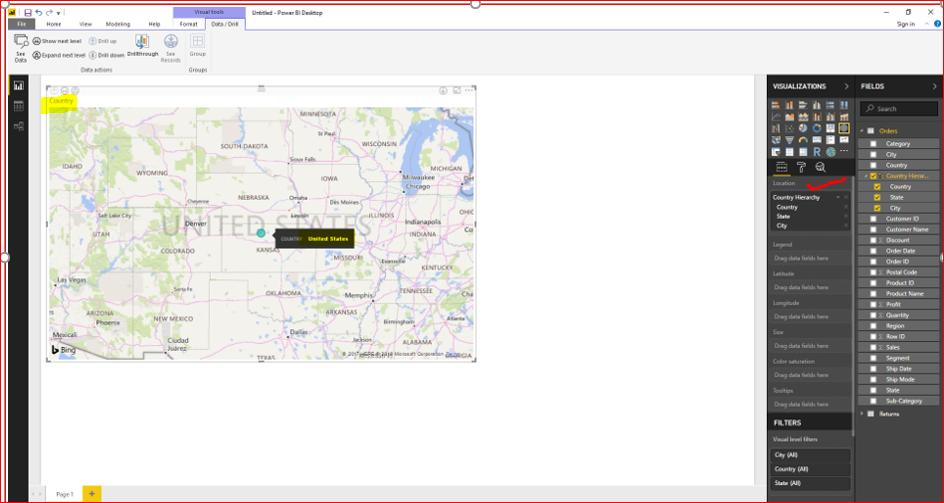Maps & Hierarchy in Microsoft Power BI 35