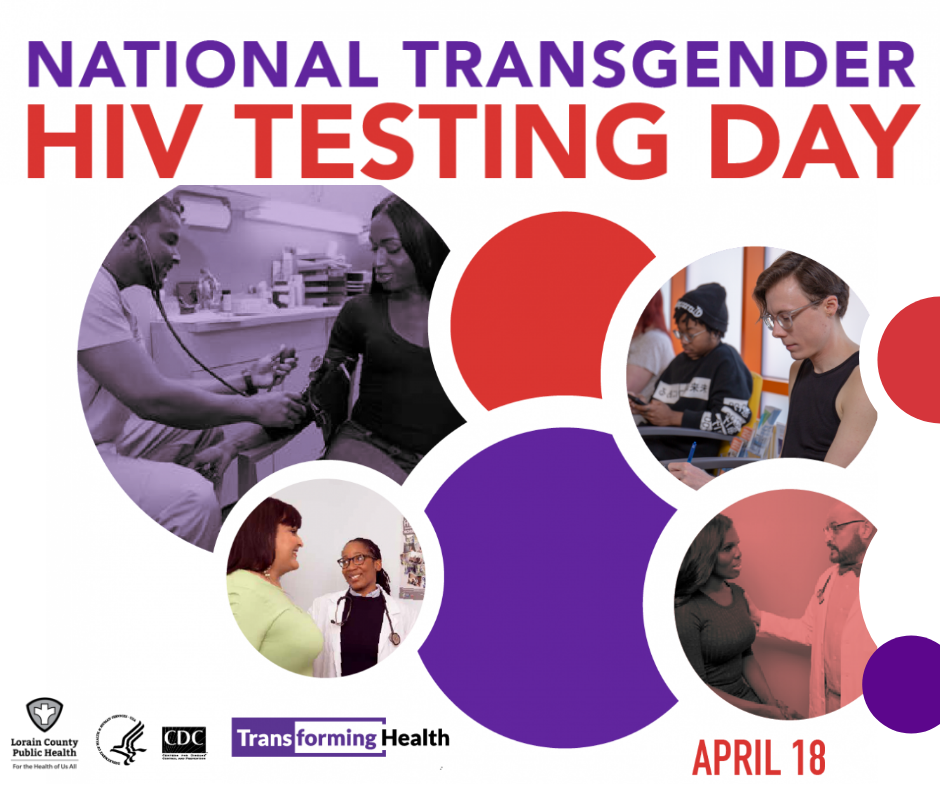National Transgender HIV Testing Day promotional image. People getting tested to know their HIV status.