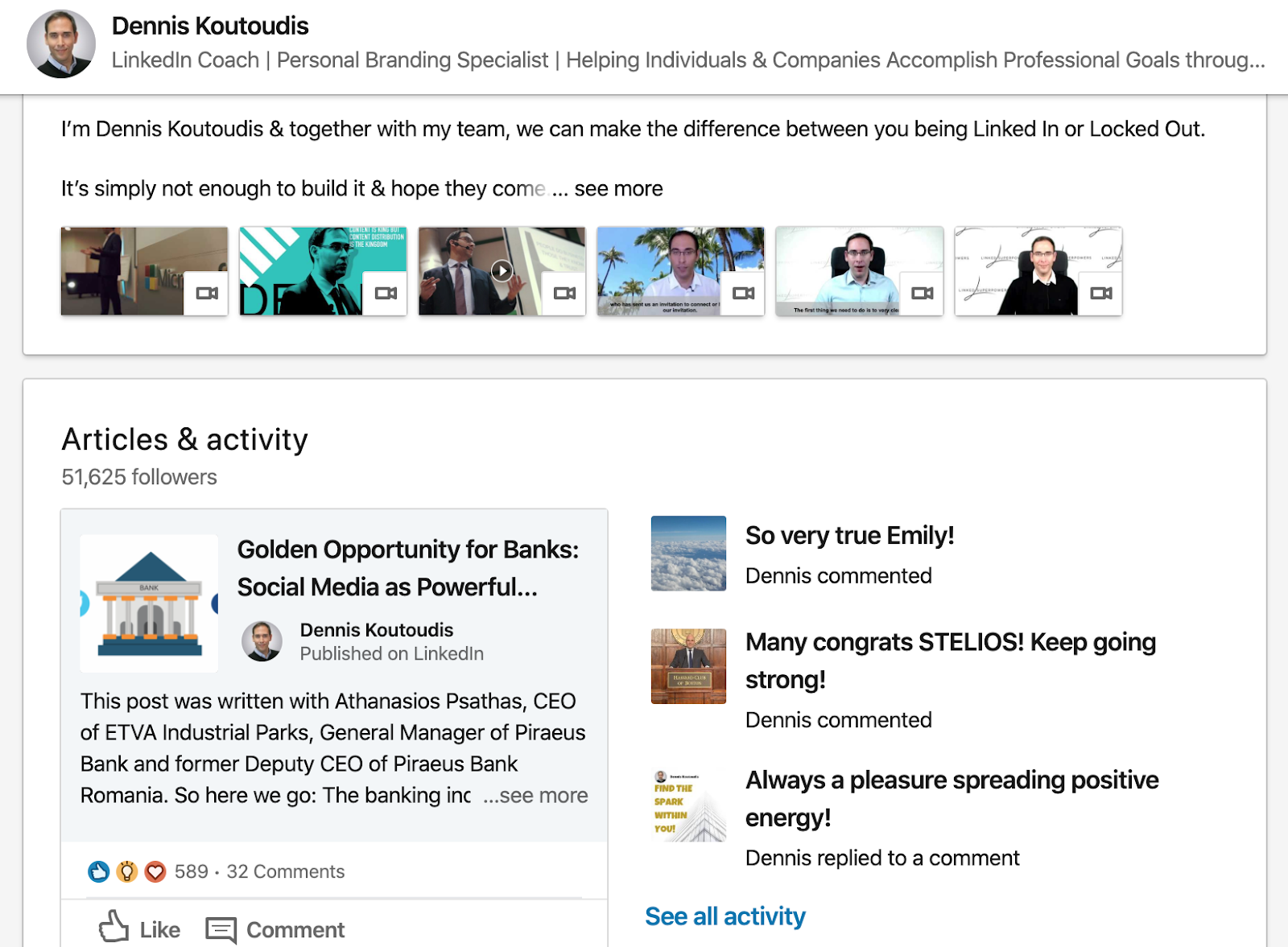 LinkedIn best practices by Dennis Koutoudis around comprehension and utility of visuals