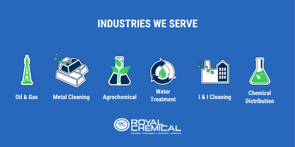 royal chemical partners with six key industries for toll blending services