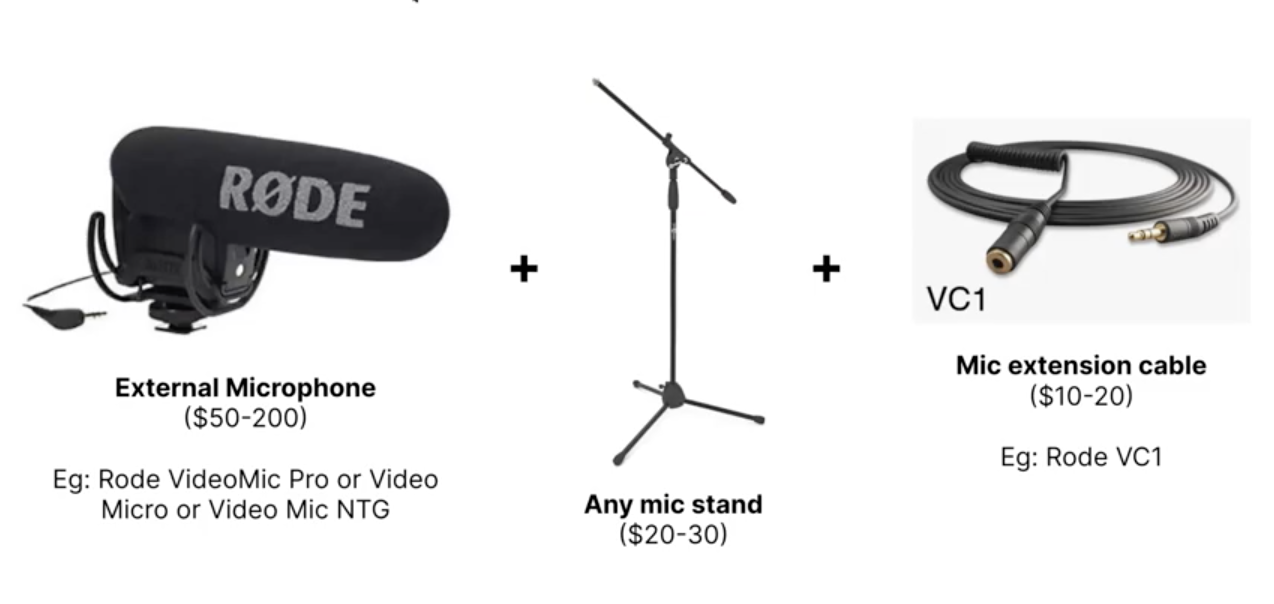 Audio setup for YouTube