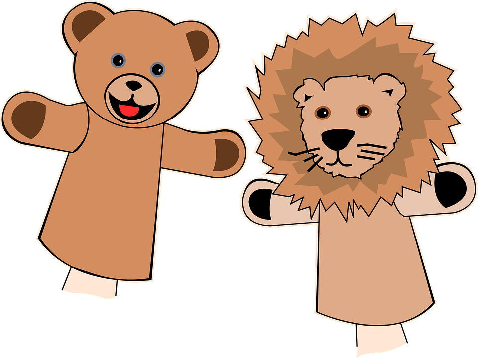 Puppets, Finger, Bear, Lion, ...