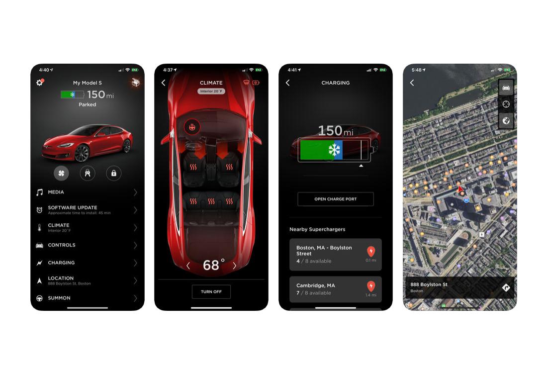 Tesla presentation screen