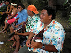 Marquesan musicians are a common sight. Photo by Clark Norton