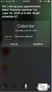 Students and teachers can get Siri to add events to their calendars