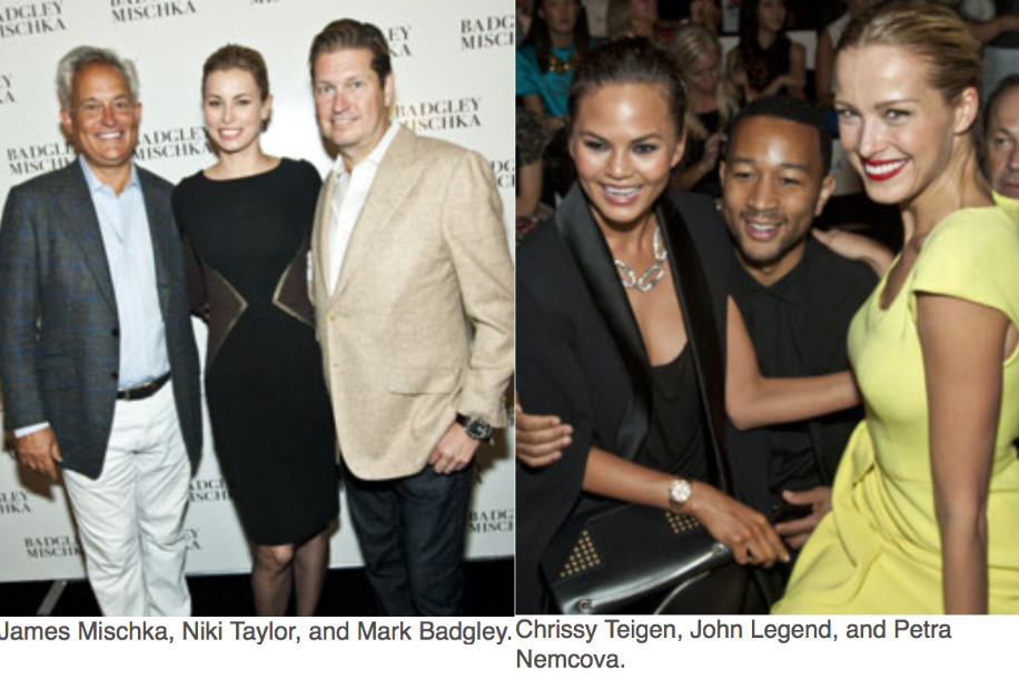 Karen Klopp, Hilary Dick article for New York Social Diary, What to wear to New York Fashion Week James Mischka,Niki taylor, Mark Badgley, Chrissy Teigen, John Leged,Petra Nemcova.
