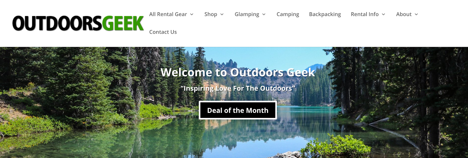 Rent Camping and Backpacking Gear at Outdoors Geek