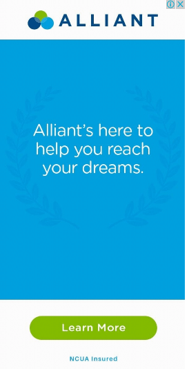 An example of an Alliant remarketing display ad that is not optimized for visitors