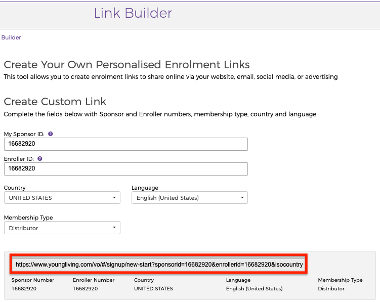 How To Make Money With Young Living Using Young Living Link Builder for your referral link
