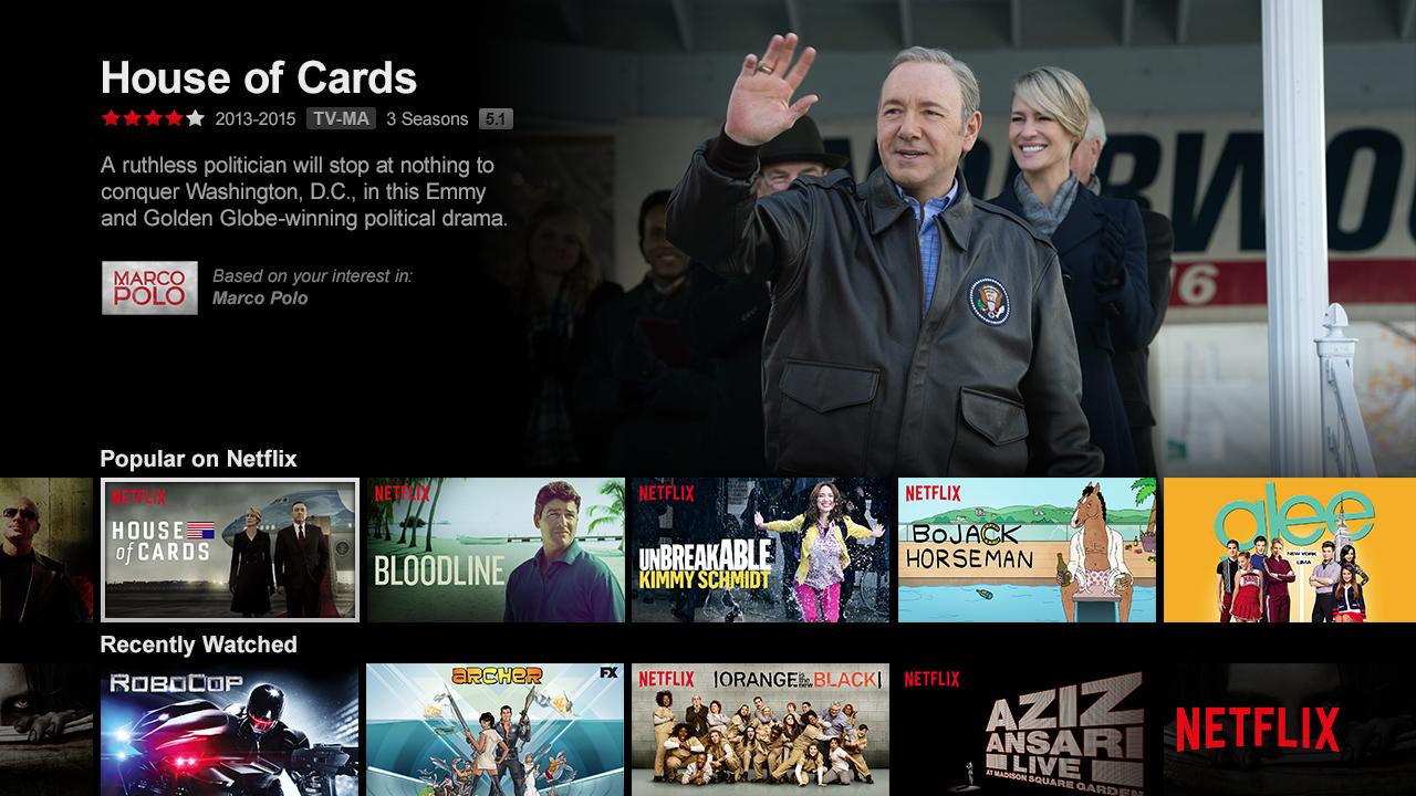Netflix US - UI, Image Courtesy: Netflix