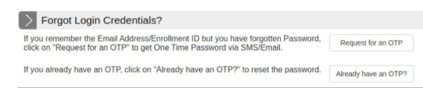 Retrieve the GOAPS Password