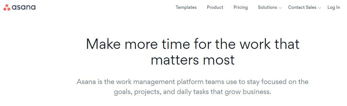 Asana work management platform