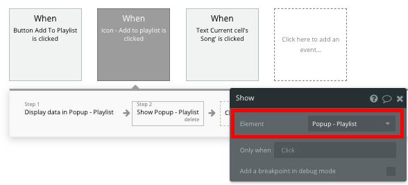 Walkthrough Workflow Bubble No Code Spotify Clone