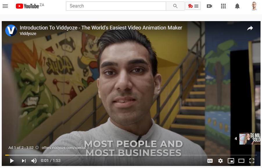 A screenshot of a YouTube ad