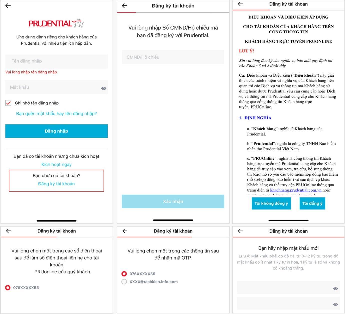 Hướng dẫn đăng ký và kích hoạt tài khoản pruonline | Prudential Việt Nam