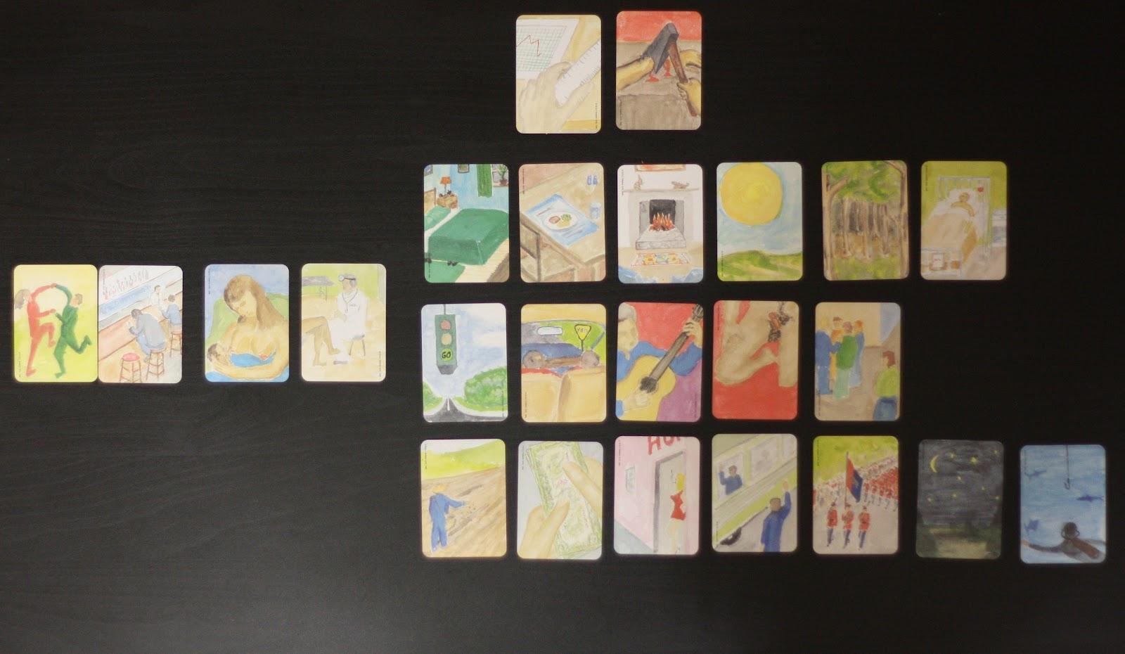 Расклад метафорических карт из колоды Ох полученный в ходе техники Искренний рассказ о проблеме