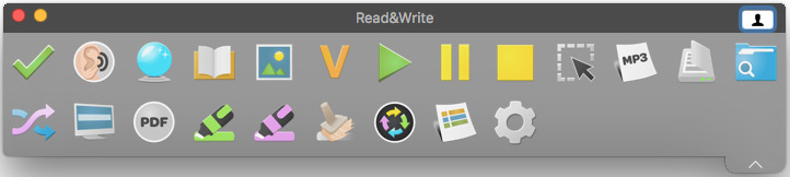 Read&Write all features toolbar