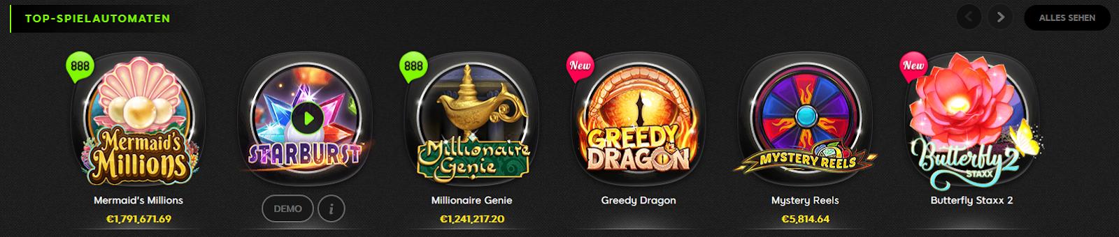 Jackpots auf 888 Casino