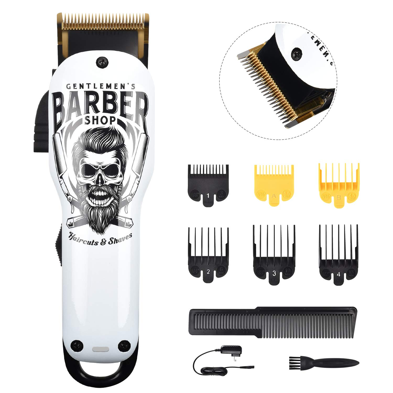 BESTBOMG Professional Cordless Hair Clippers and Beard Trimmer