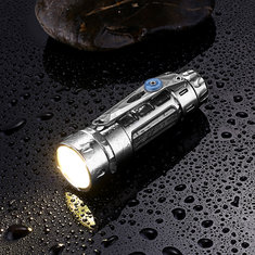 JETBEAM DM26 4x XPG3 Titanium 6Modes 3Set Modes 2Color Temperature 4Color Light 2400LM IPX8 Power Indicator Flashlight