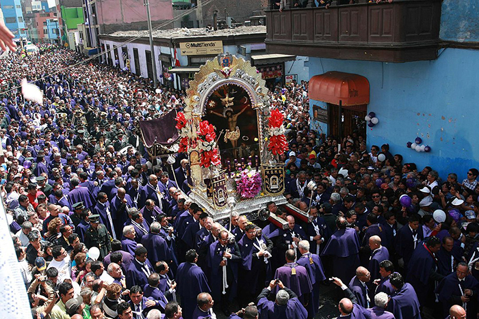 Lima es la sede central de la celebración de El Señor de los Milagros