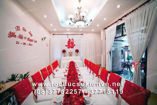 Các mẫu bàn ghế tiệc cưới Ngàn Thông